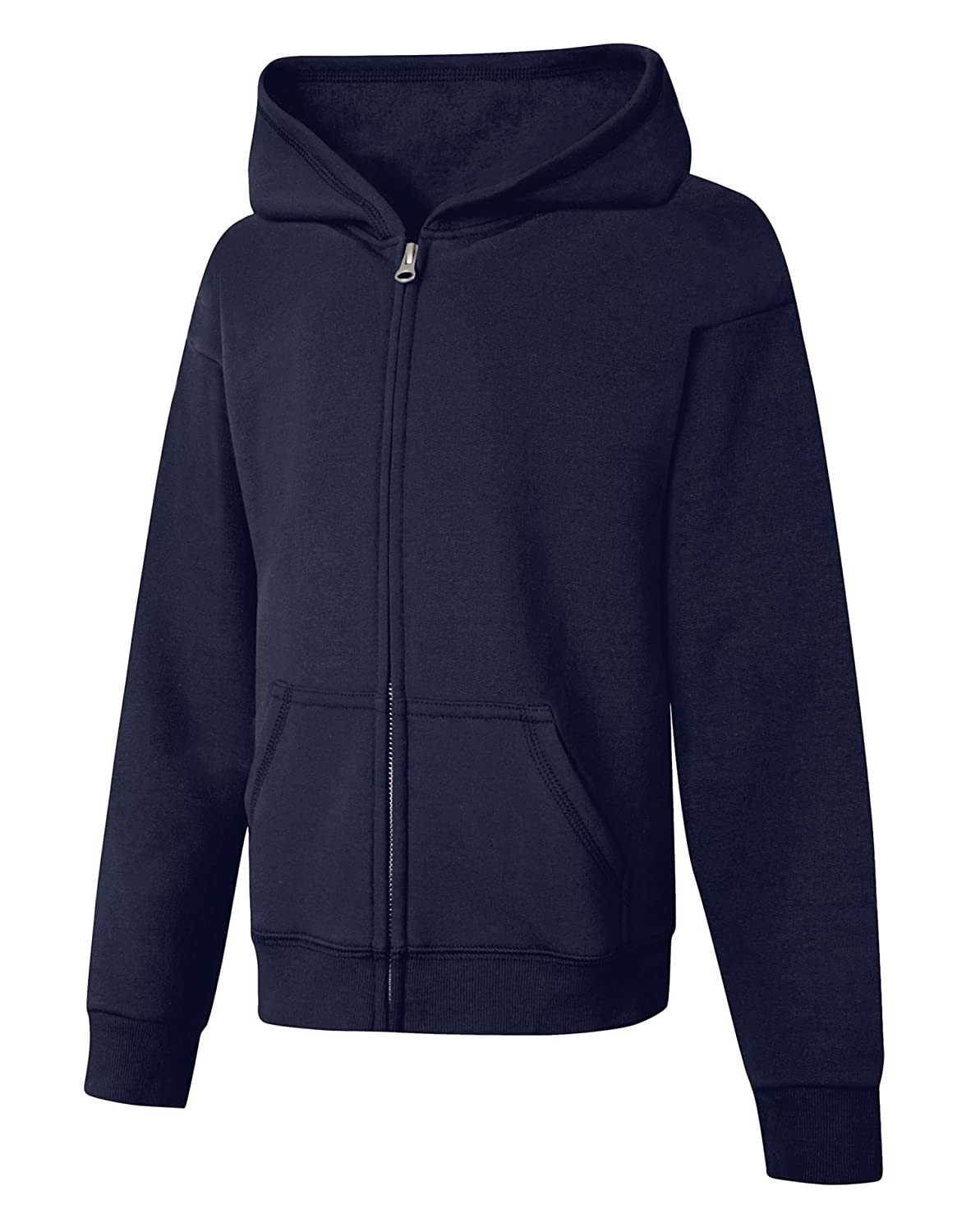 Hanes Big Girls Comfortsoft Ecosmart Full-Zip Fleece Hoodie/_Navy