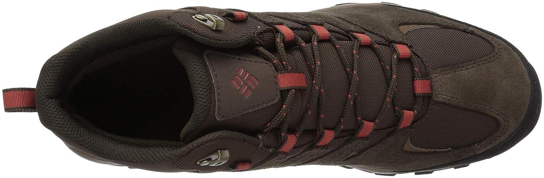 Grey ash 9.5 US Bright Copper Columbia Mens Buxton Peak MID Waterproof Wide Hiking Boot