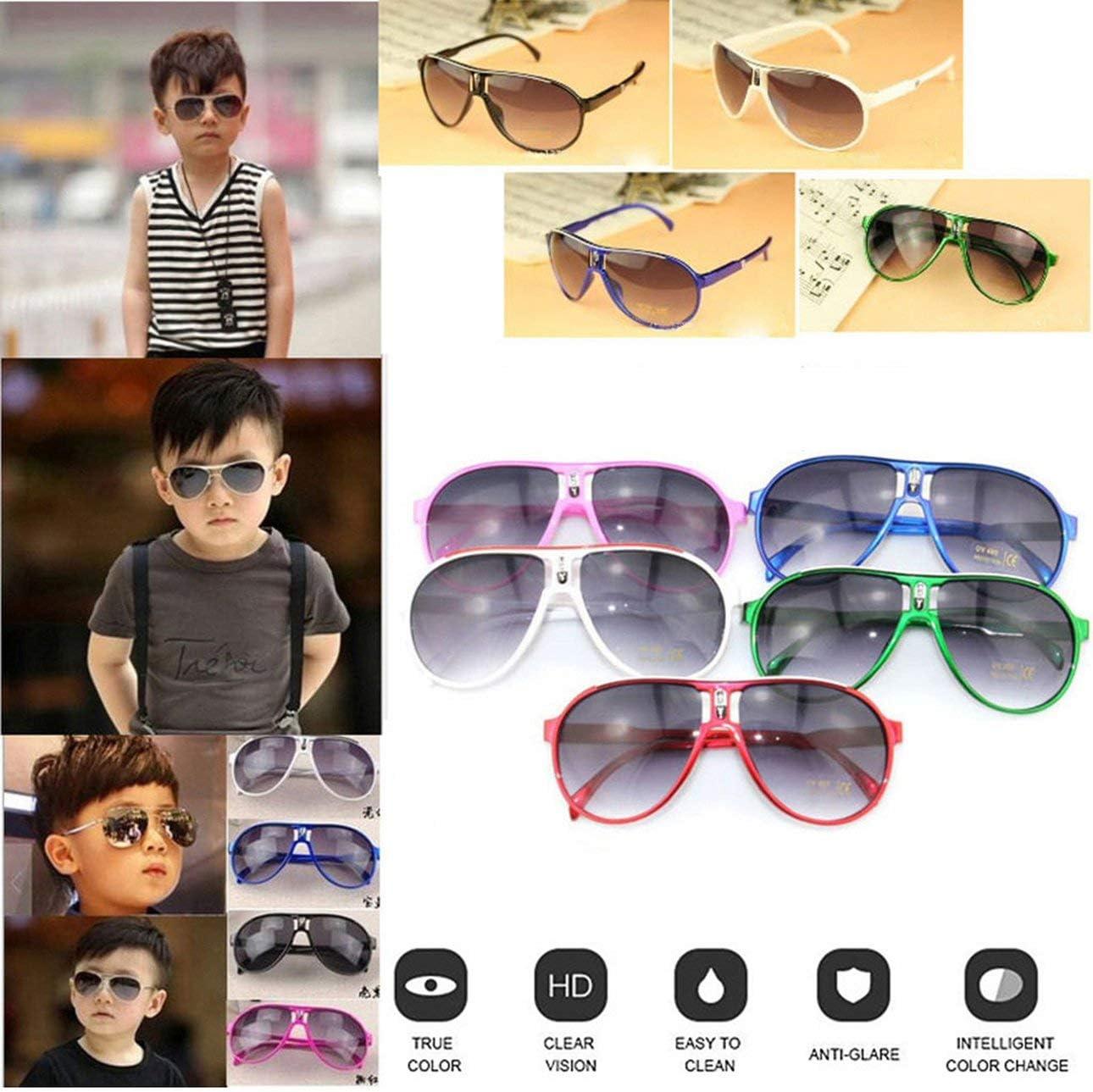Ba30FRllylelly /À la Mode Enfant Cool Enfants Gar/çons Filles Enfants Cadre en Plastique Lunettes De Soleil Lunettes Lunettes Eye Protect Easy Match