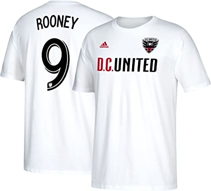 Amazon.com   adidas Wayne Rooney D.C. United Men s White Name and ... 268985d6a