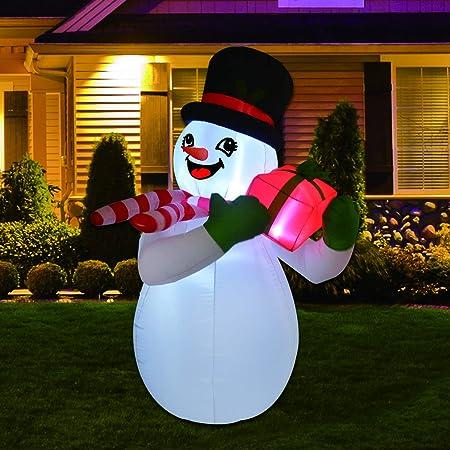 Amazon.com: GOOSH - Muñeco de nieve inflable de Navidad con ...