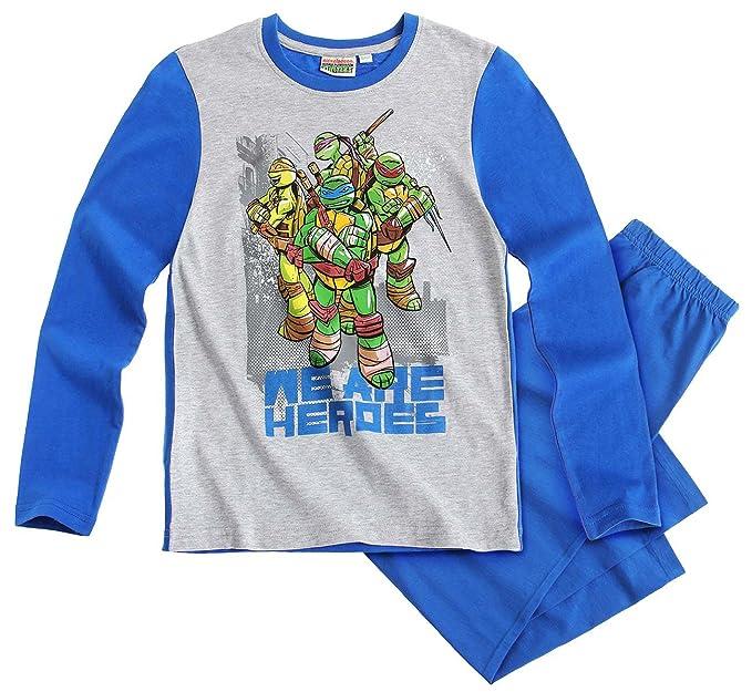 Pijama Largo para niño Tortugas Ninja Gris/Azul de 6 a 12 ...