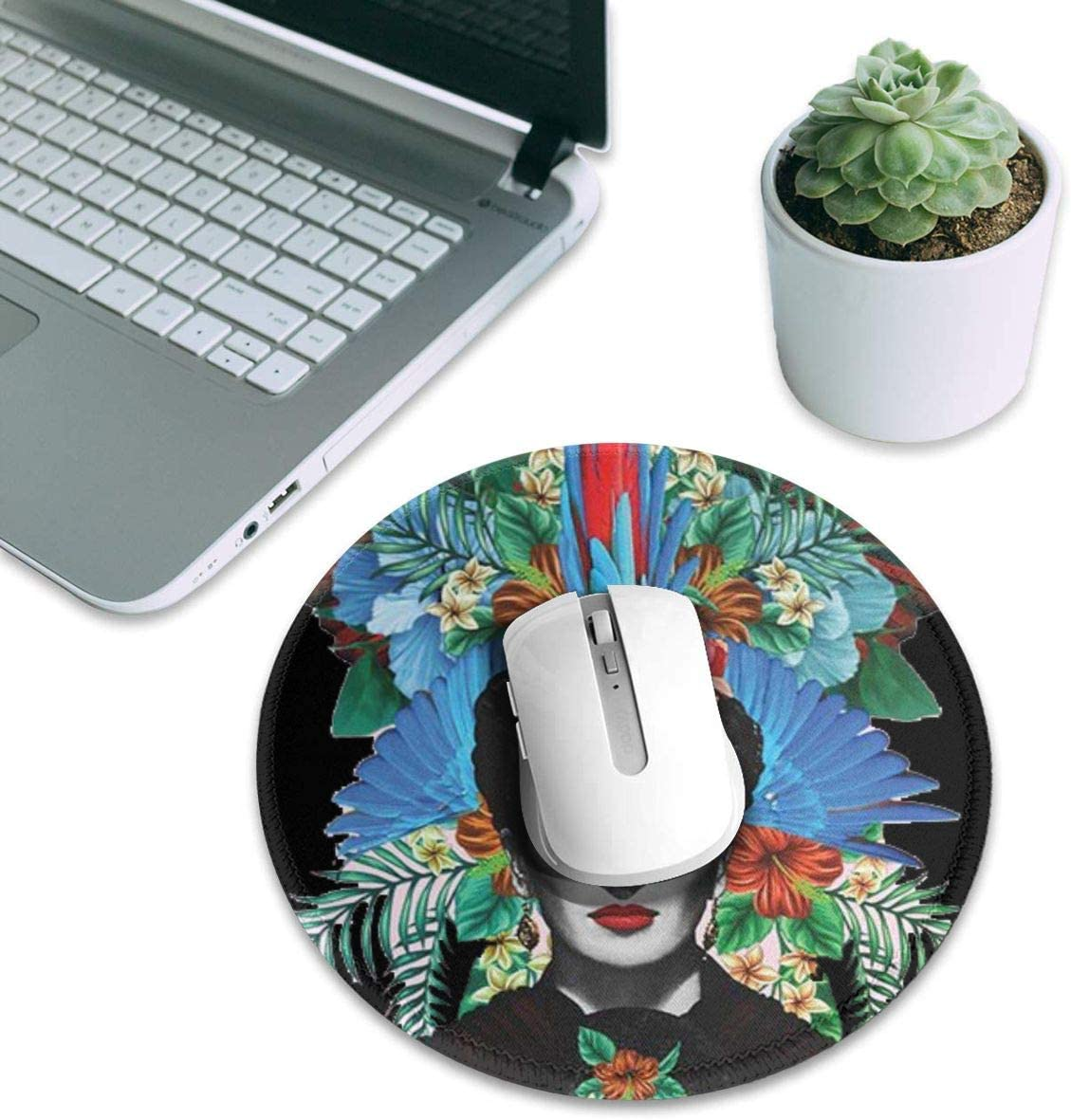 Tela Frida Kahlo Estampado Funny Mouse Pad with Stitched Edges Non-Slip Rubber Base Desk Mat Mousepad Gaming Mouse Pads for Laptop Computer /& PC Work Home