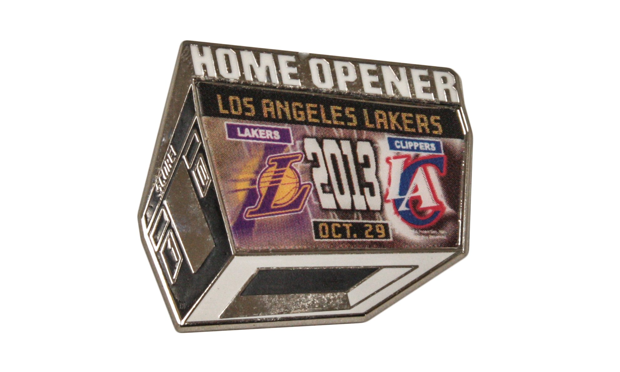 WinCraft NBA HOME OPENER LOS ANGELES LAKERS OCT, 29TH 2013 OFFICIALLY LICENSED LAPEL PIN