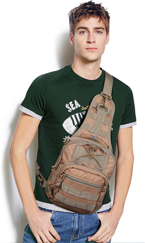 Mardingtop Poitrine Sac Crossbody Pack pour Hommes Femmes Voyage en Plein Air /Épaule Pack Sac /À Dos Daypack Sac dEpaule Militaire Tactical Sac bandouli/ère