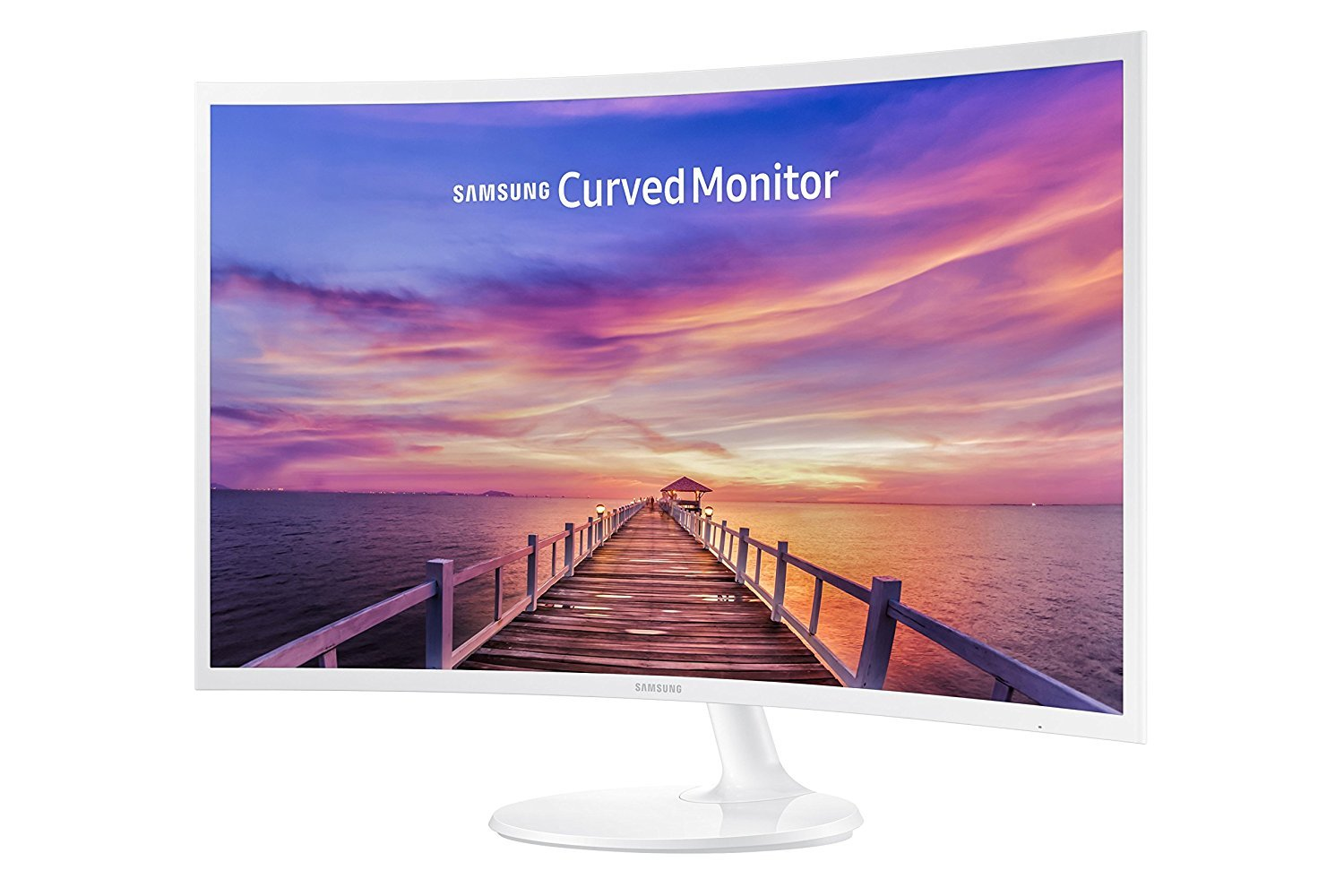 Samsung 32-Inch Widescreen FHD Curved LED Monitor, 1920x1080 Resolution, 16:9 Aspect Ratio, 4ms Response Time, 178 Degrees Viewing Angles, 5,000:1 Static Contrast Ratio, 2 HDMI, Display Port, White