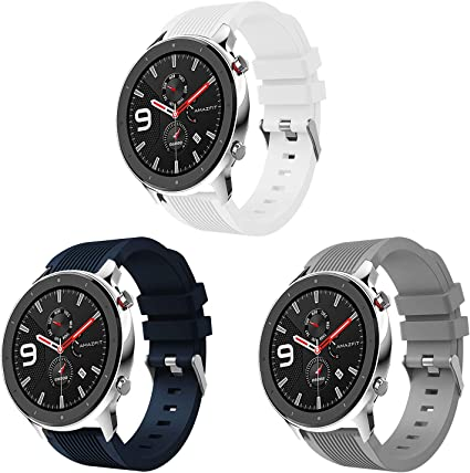 Amazon.com: HATALKIN Compatible with Amazfit GTR 47mm Bands ...