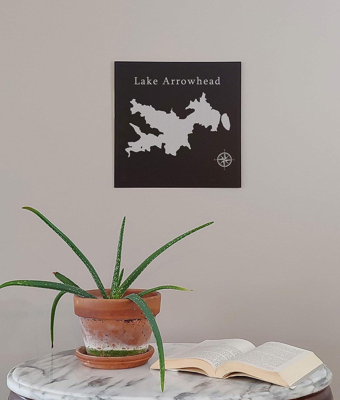 Lake Arrowhead Map Wall Art Office Decor Gift Engraved California