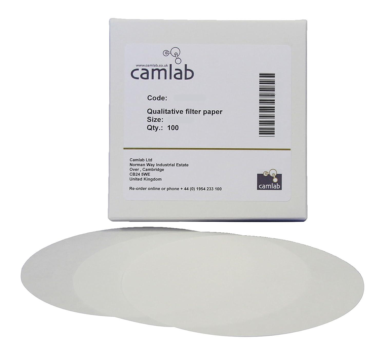 Camlab 1171097 Grade 118 55 mm Diameter 5 Very Slow Filtering Qualitative Filter Paper Pack of 100
