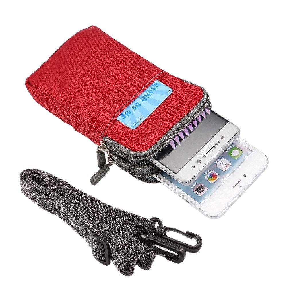 case /étui jbtec/® Universel Sac Ceinture//T/él/éphone portable Housse Nylon Uni # G38/165/x 90/x 30/mm/ de Passant de ceinture //Étui de protection