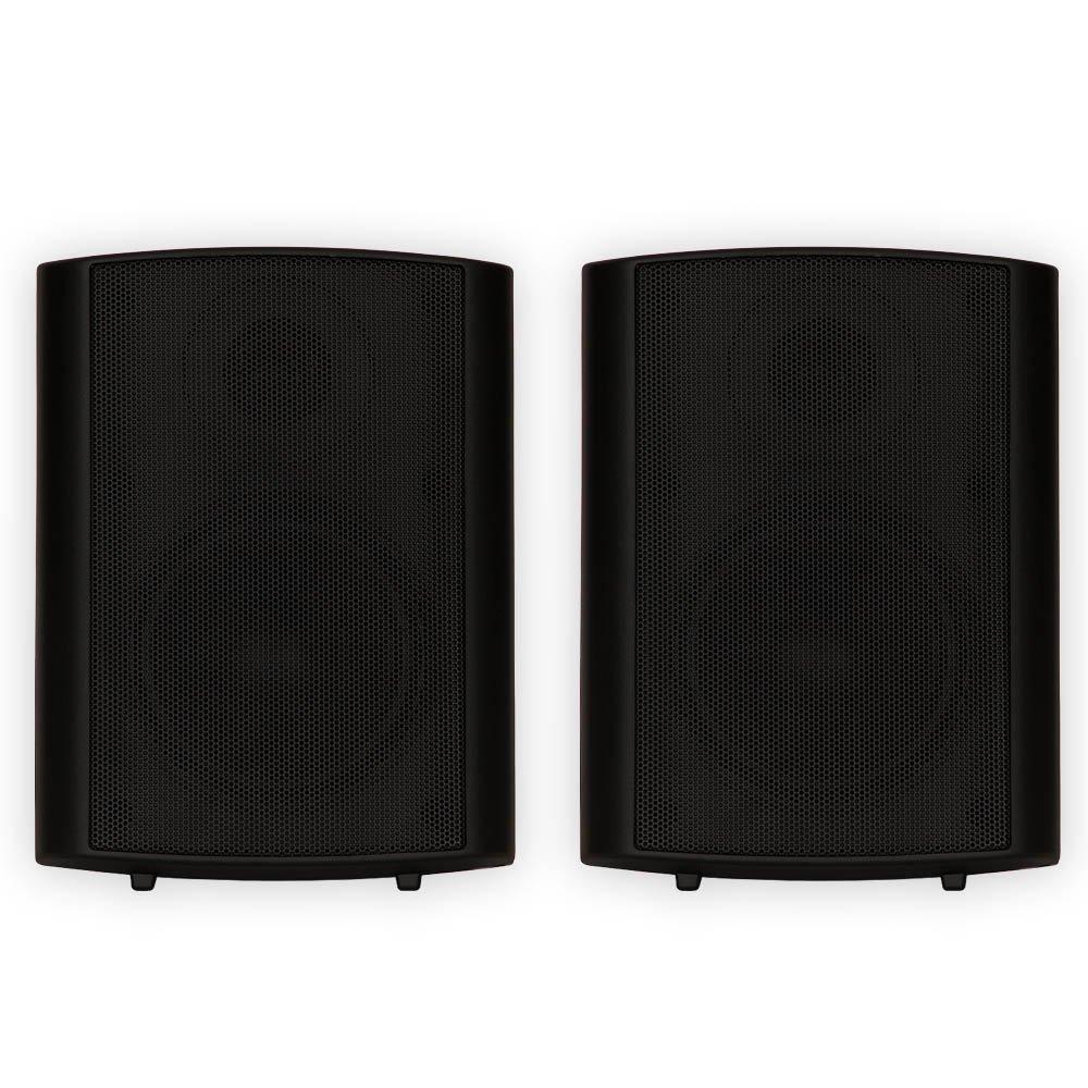 Theater Solutions TS425ODB Indoor or Outdoor Speakers Weatherproof Mountable Black Pair