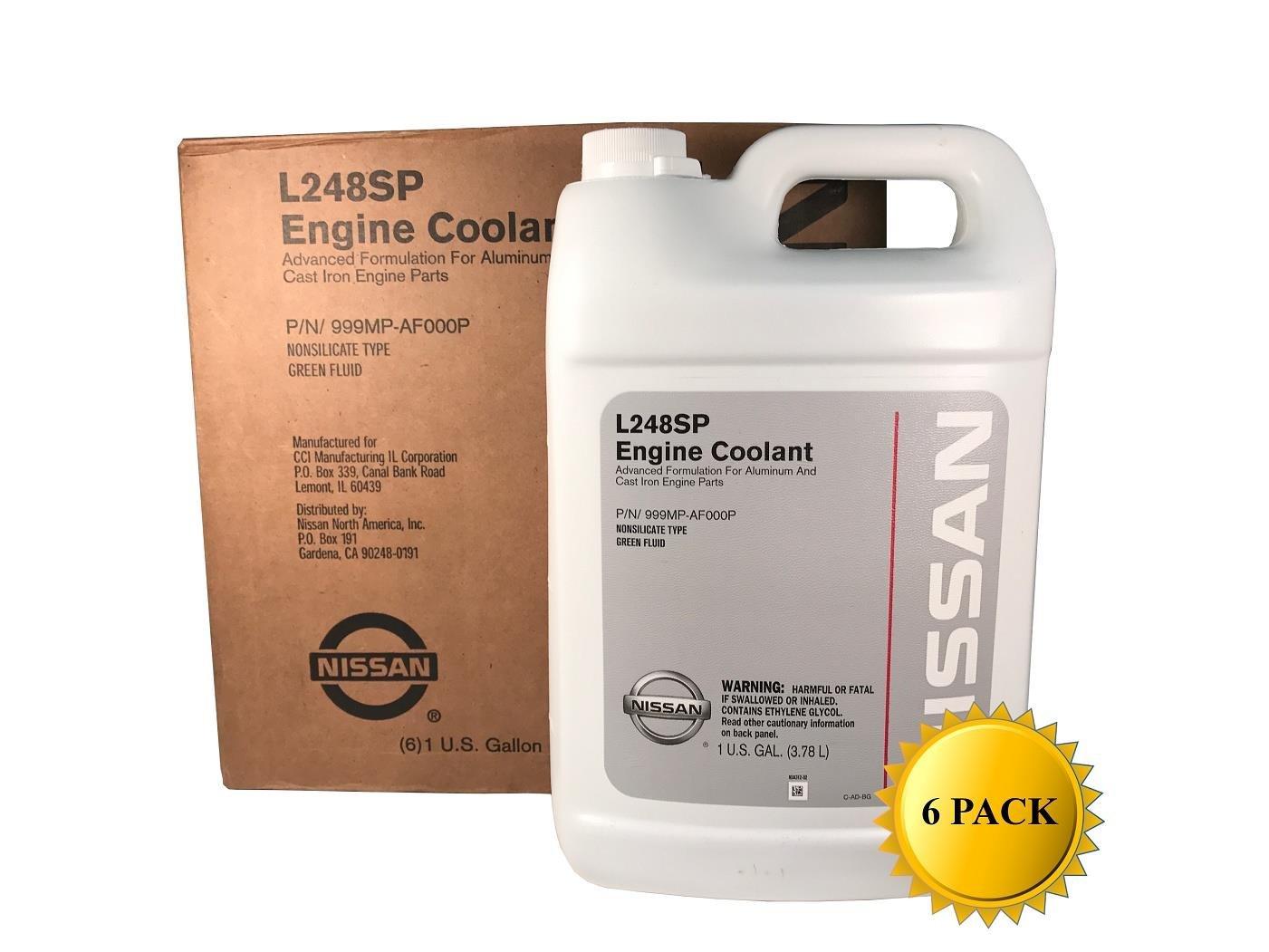 Amazon.com: Genuine Nissan OEM Green Antifreeze/Coolant 999MP-AF000P (Case  of 6): Automotive