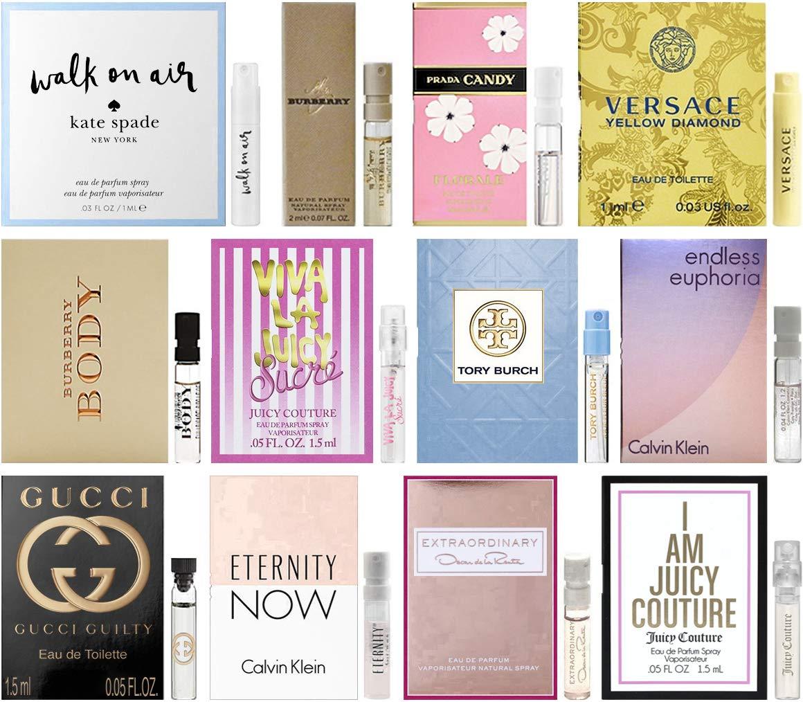 Designer Fragrance Samples for Women - Sampler Lot x 12 Perfume Vials