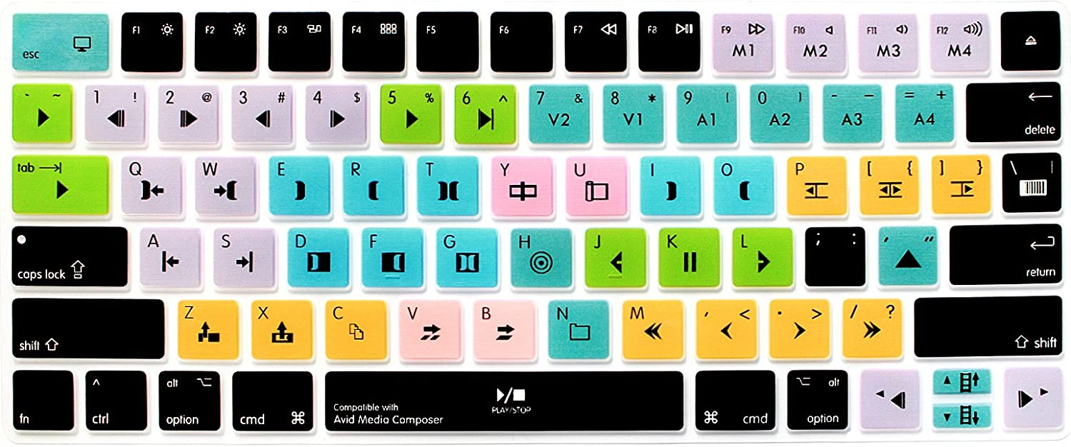 US Layout Silicone Skin Protector with Floral /& Big Letter Design MLA22LL// A A1644 Flowers SANFORIN Keyboard Cover Skin for Apple Wireless Magic Keyboard