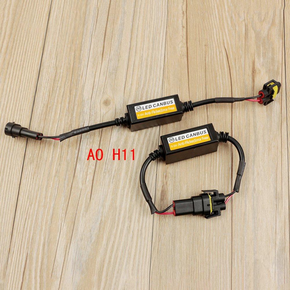 2 x 30 cm LED luz bombilla Canbus Libre De Errores resistencia anti parpadeo Canceller Decoder: Amazon.es: Coche y moto
