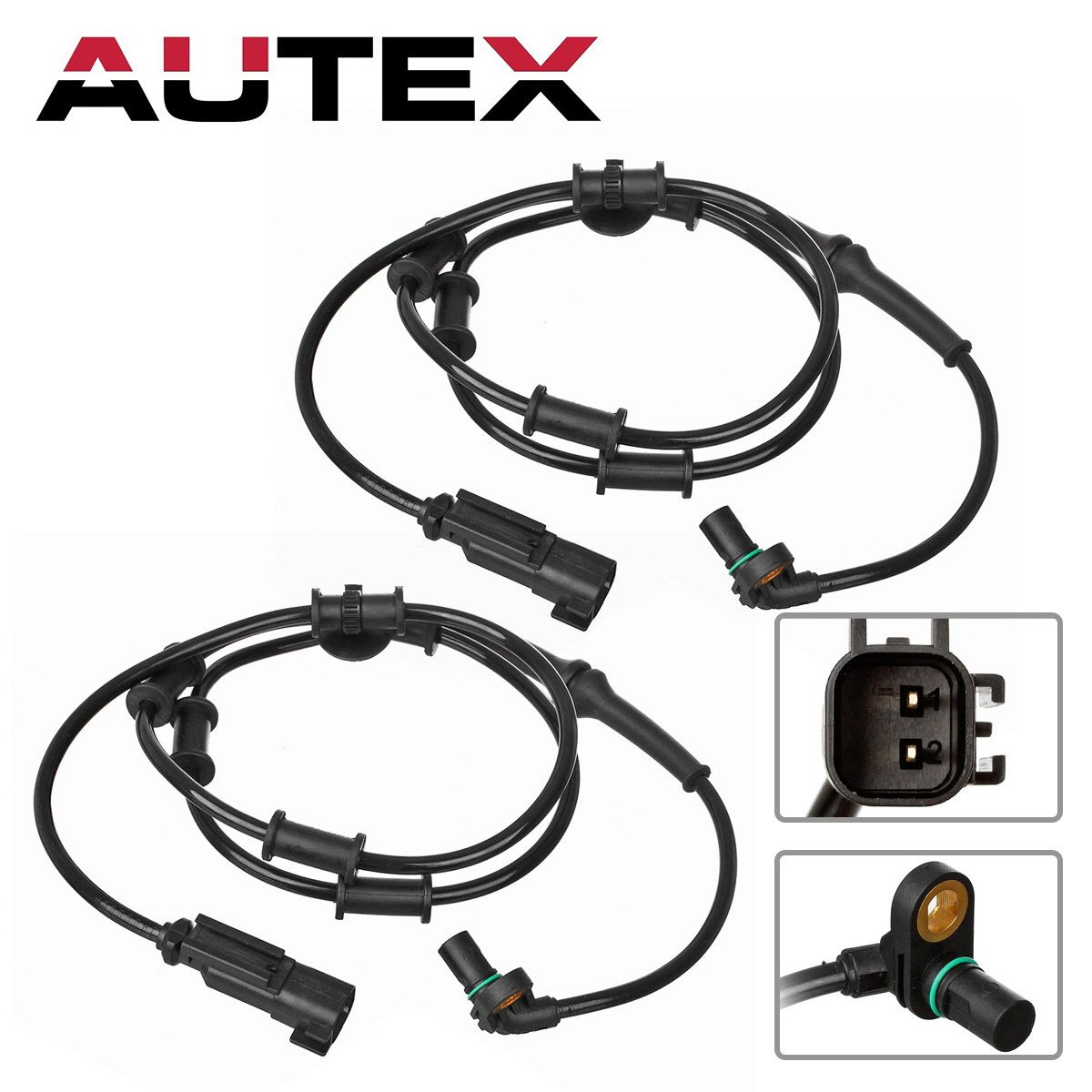 AUTEX 2PCS ABS Wheel Speed Sensor Front Left & Right ALS1984 5179958AA 5179958AB compatible with 2008 Dodge Ram 1500 4WD Quad Cab 2006 2007 2008 Dodge Ram 2500 4WD 2006 2007 2008 Dodge Ram 3500 4WD