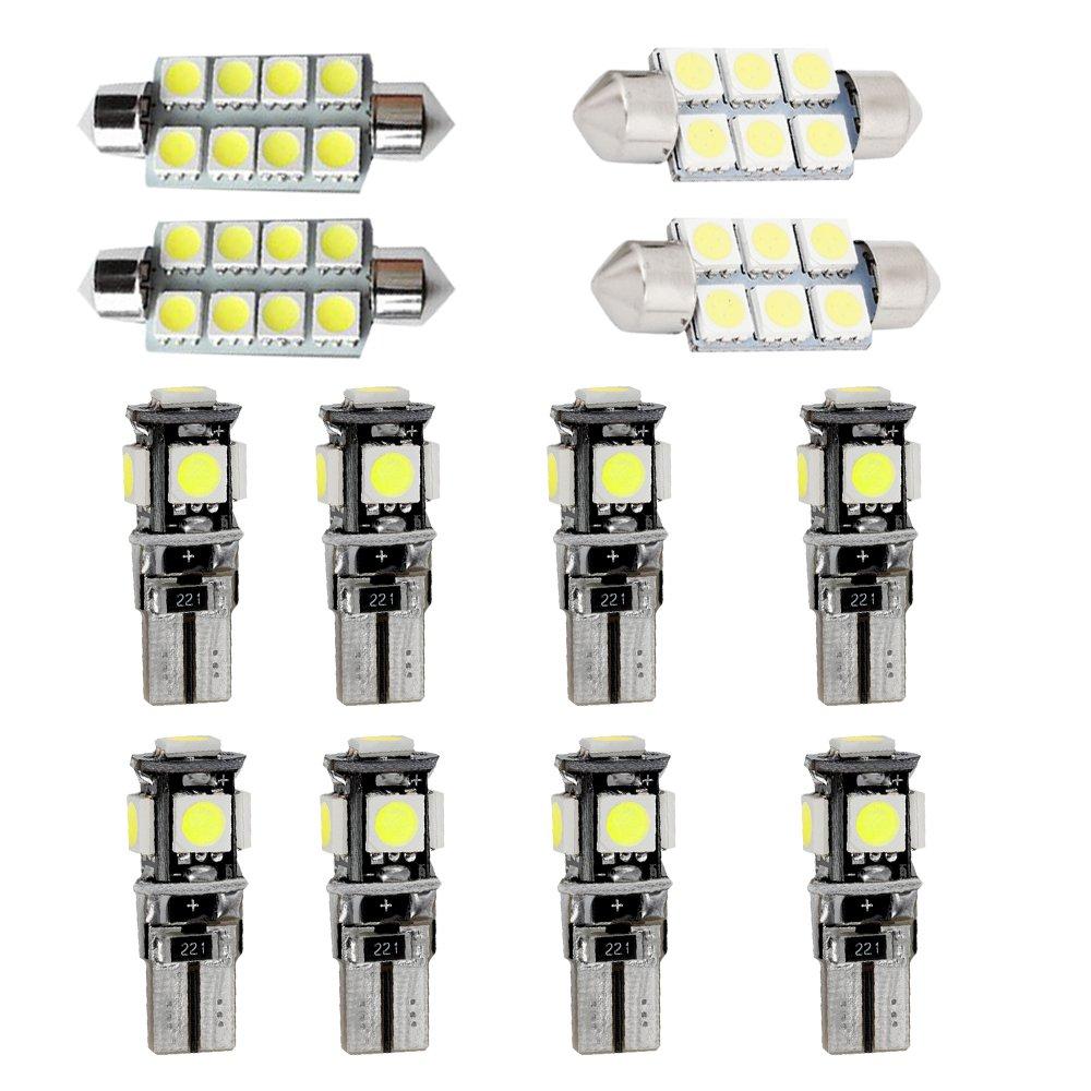 Muchkey luz de interior coche Para TT Auto Dome Bombilla Kit Blanco 7pcs
