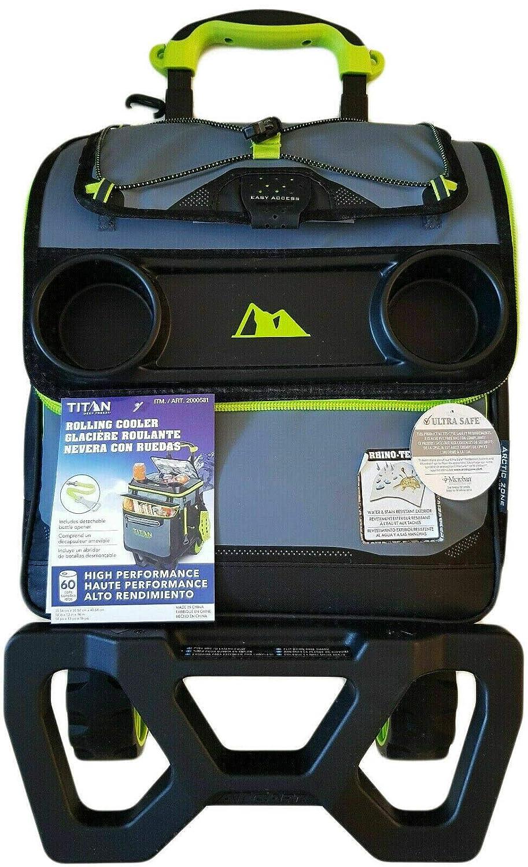 Titan - Nevera de 22,5 litros, con capacidad para 60 latas y carro ...