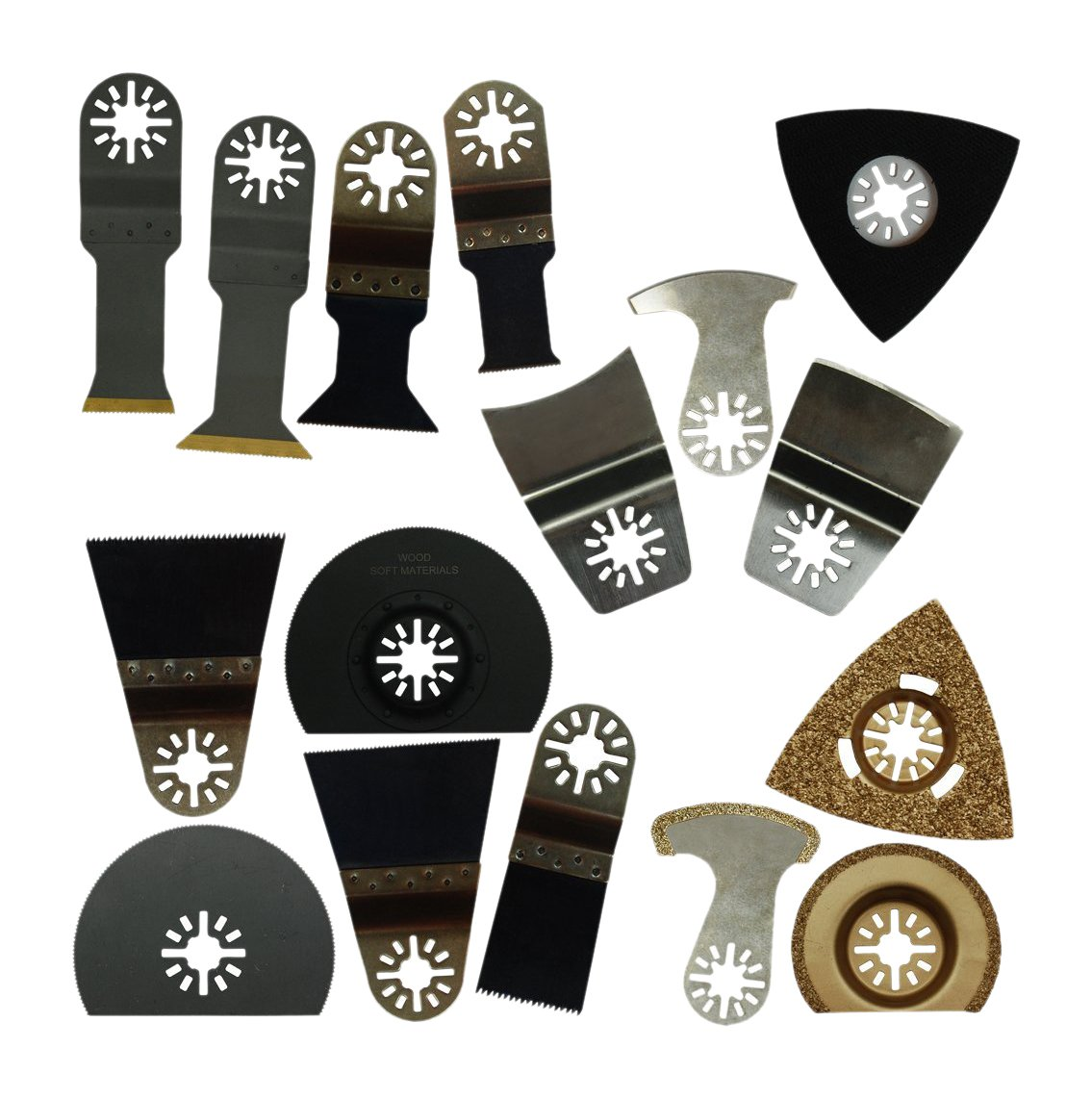 Zenith Industries ZN180060 Does-It-All OSaw Blade Set, 16 Piece