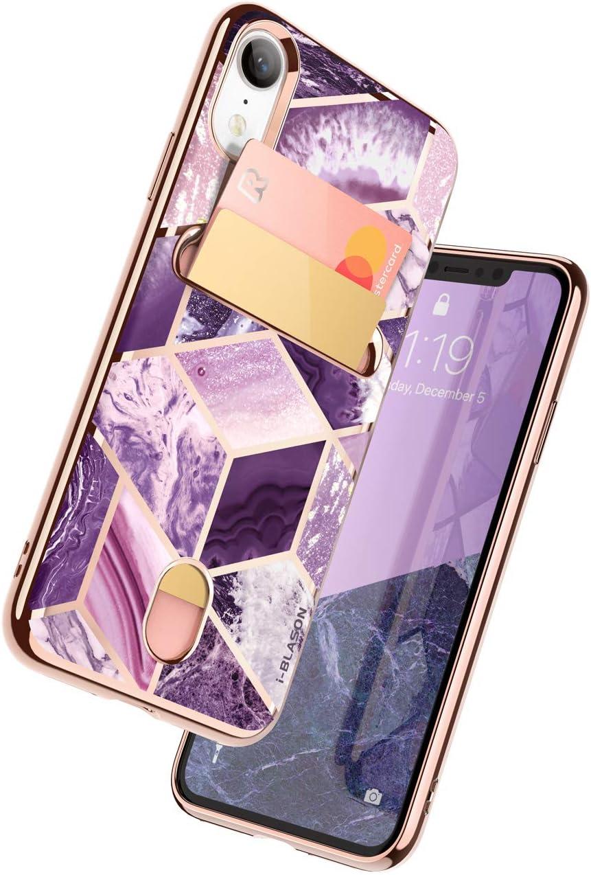 i-Blason Cosmo Wallet Slim Designer Wallet Case for Apple iPhone XR (2018) (Ameth)