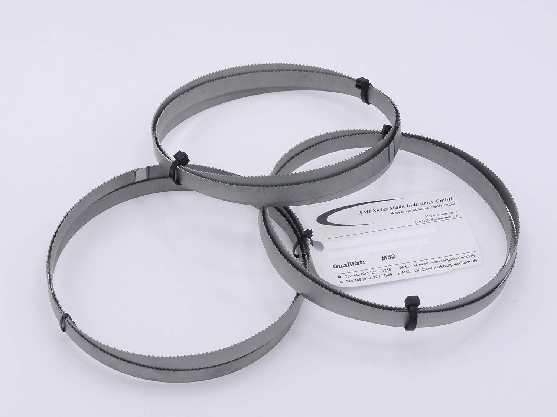 3er SET Metalls/ägeband Bi-Metall M 42 Abmessung 1640x13x0,65 mm 14 ZpZ z.B f/ür G/üde MBS 115