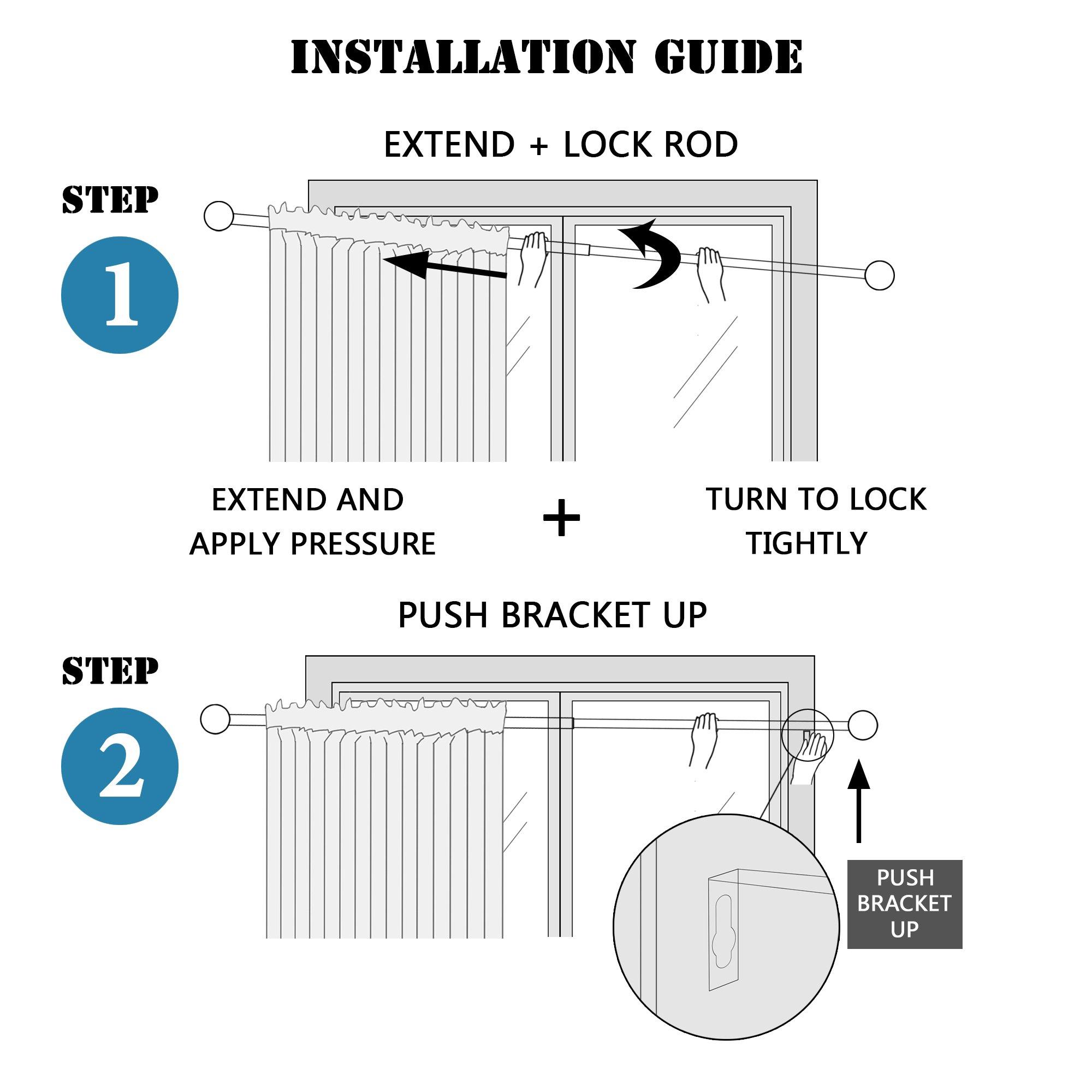 H.VERSAILTEX Window Curtain Rod, Adjusts Rod Length from 48 to 84-Inch,3/4 - Inch Diameter, Black (Antique Bronze Finishing) by H.VERSAILTEX (Image #6)