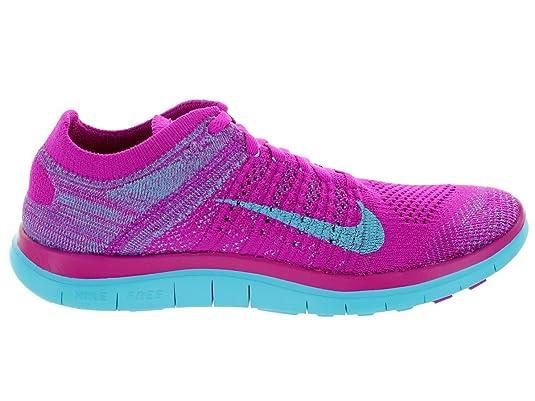 Amazon.com | Nike Women's Free 4.0 Flyknit Fchs Flsh/Clrwtr/Mdm Vlt/Plrzd  Running Shoe 6.5 Women US | Running