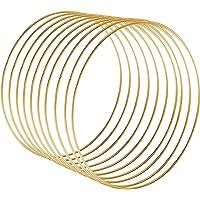 Liseng 10 guirnaldas de metal de 30 cm con borlas doradas para manualidades, decoración de bodas, para colgar en la…