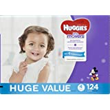 Huggies Little Movers, Baby Diapers, Size 4, 124 Ct