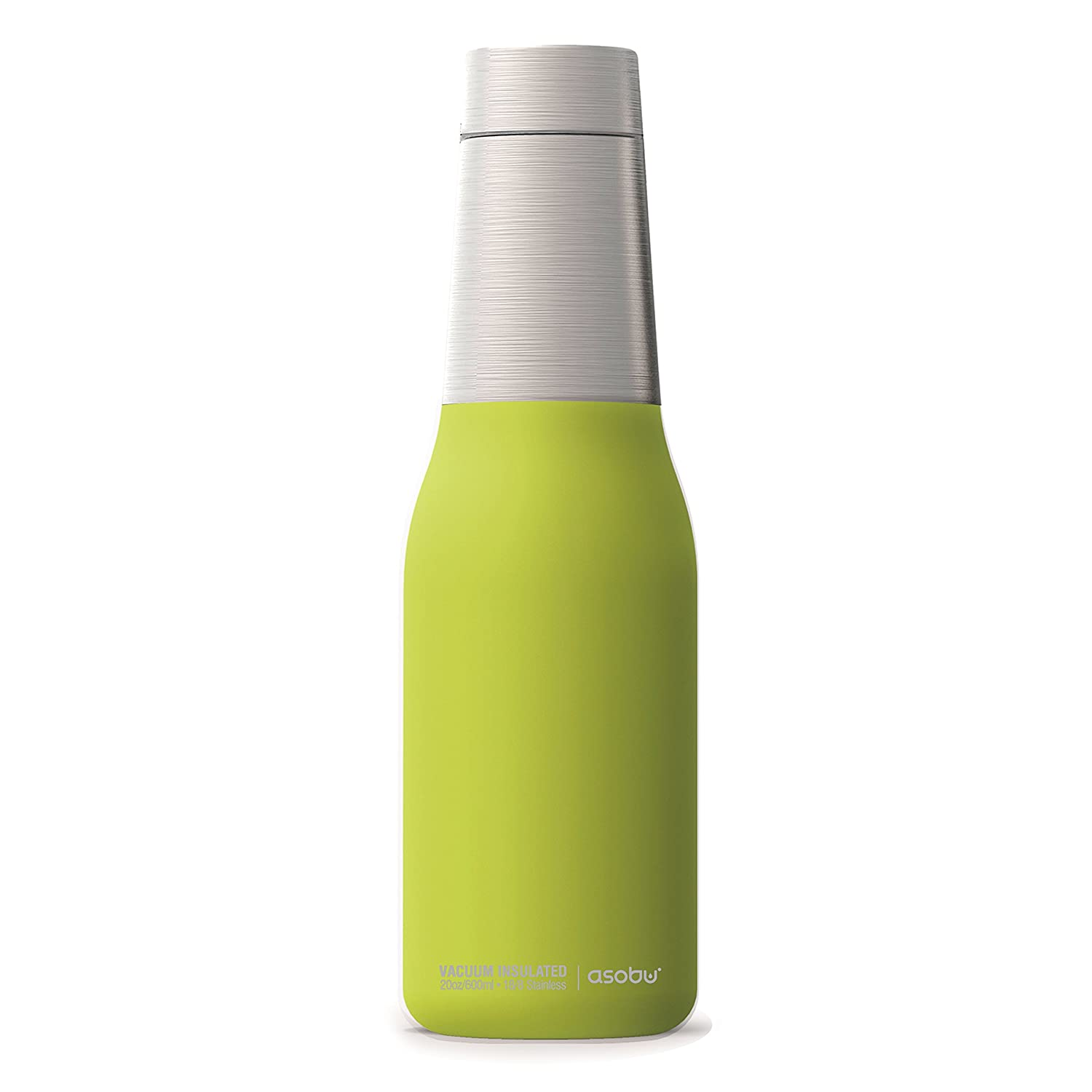64483f767f Amazon.com: Asobu The Oasis Vacuum Insulated Double Walled 20oz Water Bottle  (Lime): Sports & Outdoors