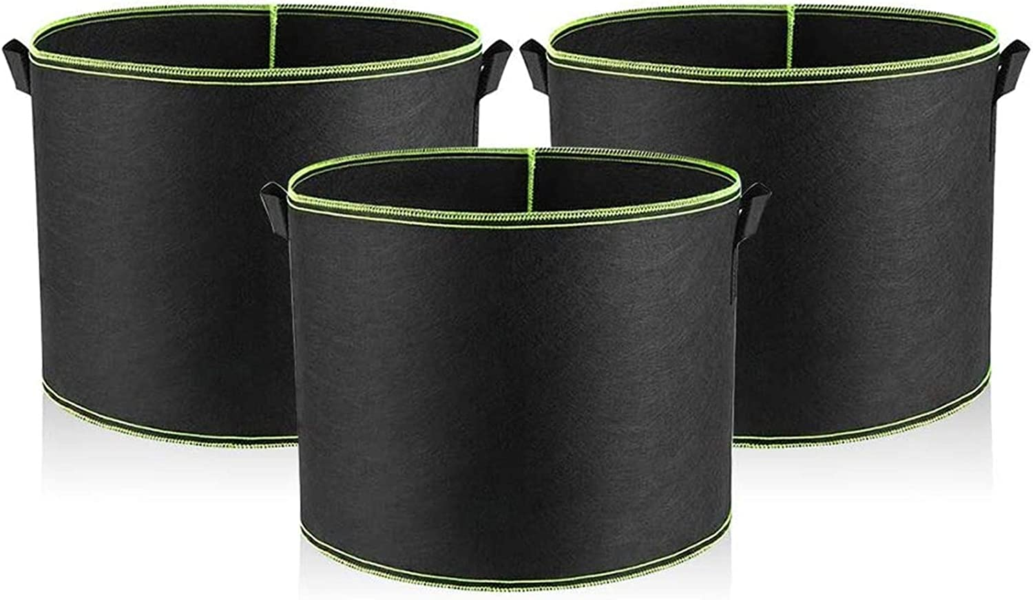Opfree Vegetable Grow Bags,Garden containers Pots and planters Extra Large,Planting Pots Pack,for Grow Vegetables Indoor Outdoor 25 * 22cm 3 PCS