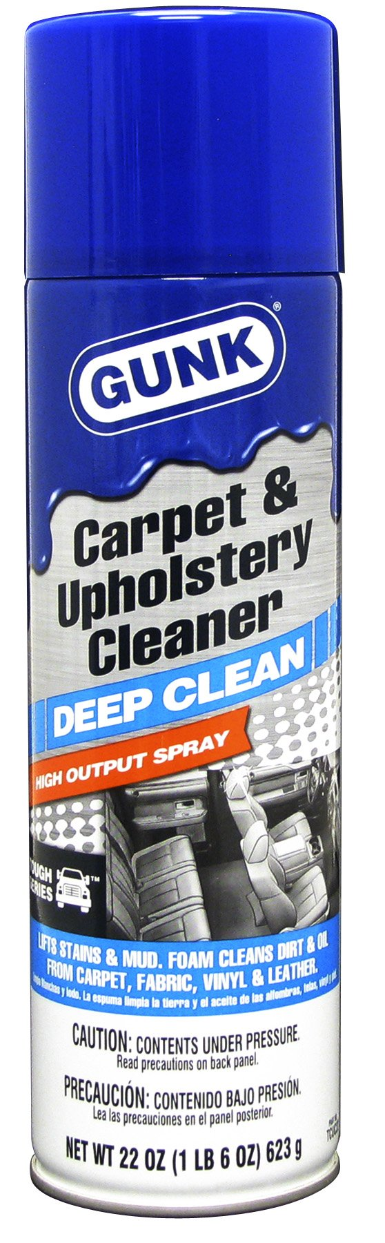 Gunk TCUC22-12PK Tough Series Carpet and Upholstery Cleaner - 22 oz, (Case of 12)