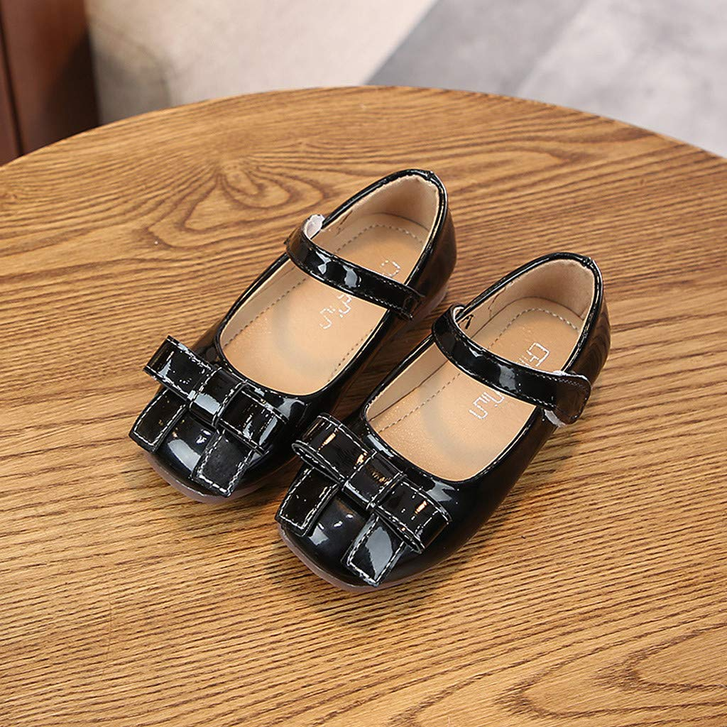 Kimanli Toddler Infant Kids Baby Girls Bow Solid Beach Single Princess Shoes Sandals