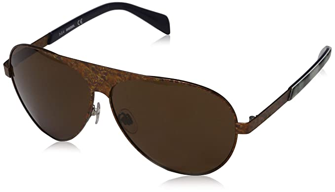 686ff470691 Diesel DL0119 S 37E Brushed Bronze Teardrop Aviator sunglasses for Mens