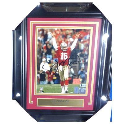 c06e44b37 Joe Montana Signed Autograph Framed 8x10 Photo San Francisco 49ers - Beckett  Authentic