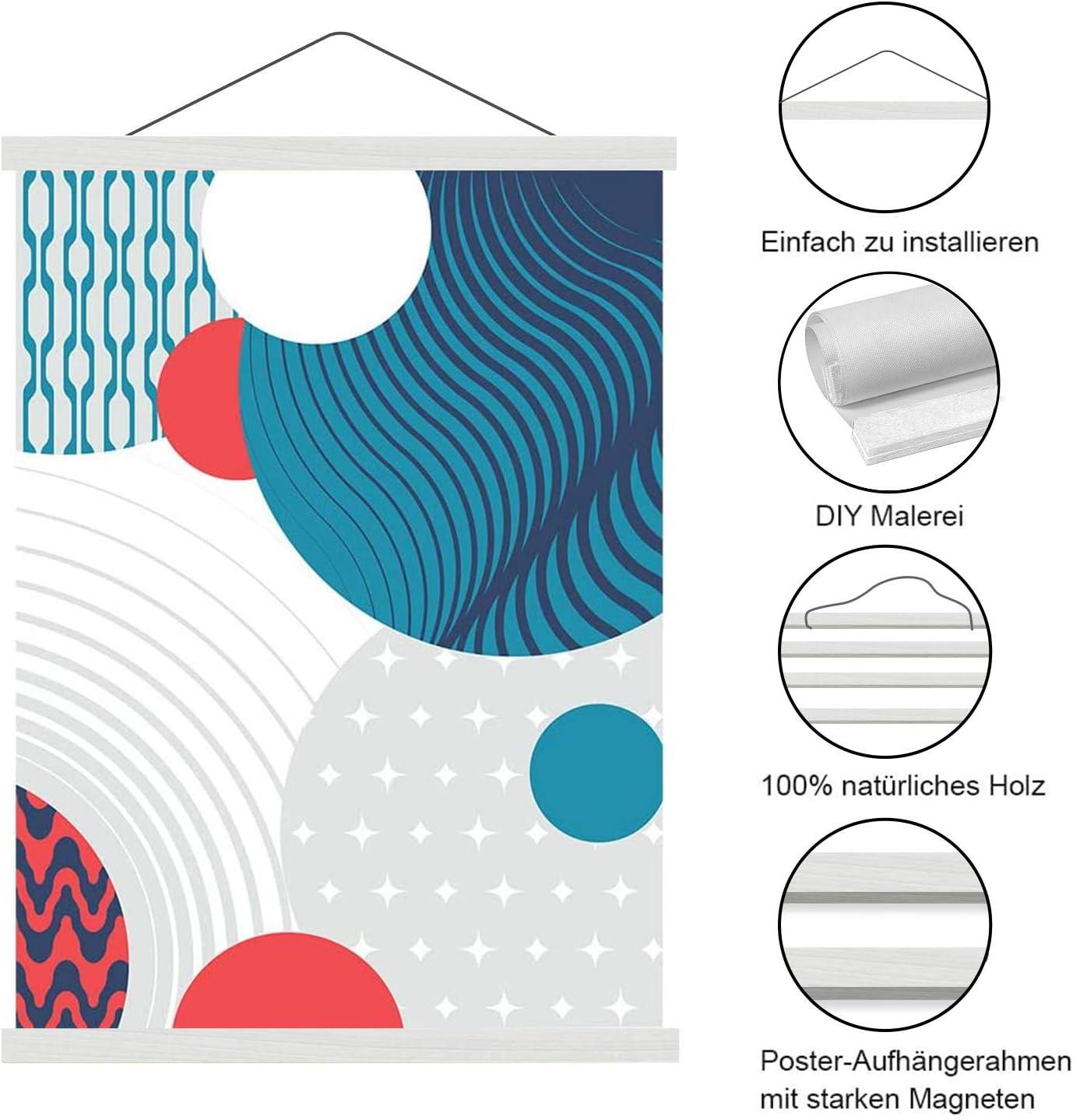 Aibesser BK2 Rail magn/étique pour poster en bois 21 cm