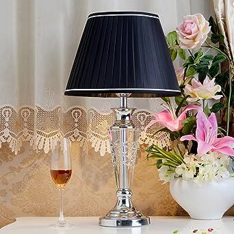 Simple Moderno Cristal Lámparas de mesa,Dormitorio Lámpara mesita de noche Sala de estar Decoración Lámpara de pie pequeña creativa Elegante Lámpara escritorio-C: Amazon.es: Iluminación