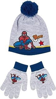 Spiderman Ragazzi Confezioni 2 pezzi: berretto e guanti - grigio