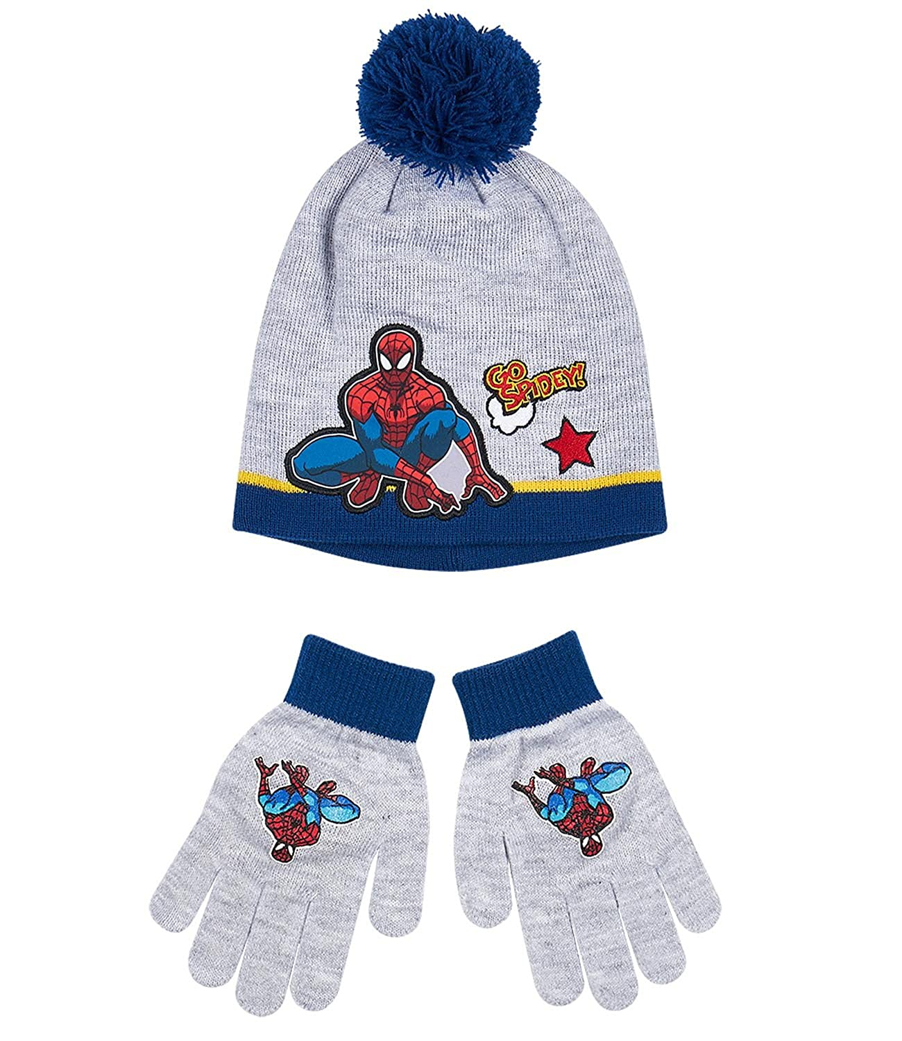 Spider-Man Boys 2 pieces set: Hat and Gloves - grey