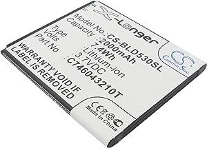 Replacement Battery for BLU D010, D010U, D530, D530e, D530X, D531K, D890U, Dash X, S0050UU, Studio 5.0, Studio 5.0E, Studio 5.0K, Studio C 5+5 C706045200P, C706045200T