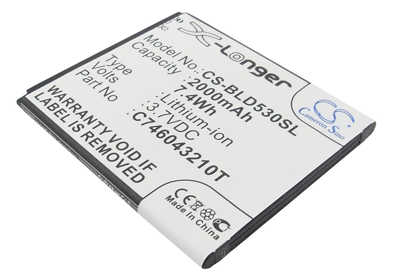 Cameron Sino 2000mAh Battery for BLU Dash X, BLU Studio 5.0, BLU C706045200P