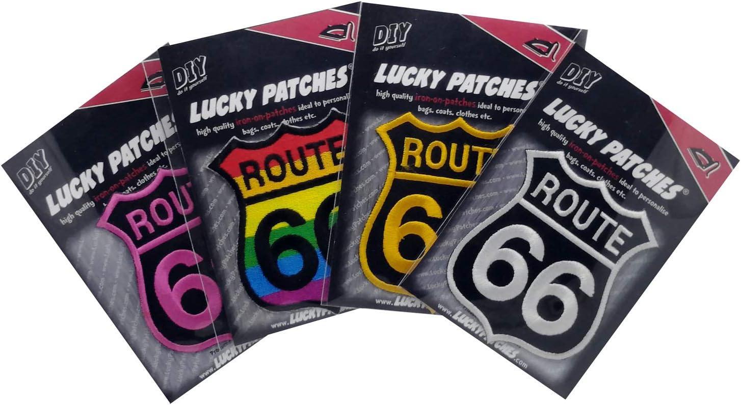 Parche para coser o planchar con logotipo de Ruta 66: Amazon ...