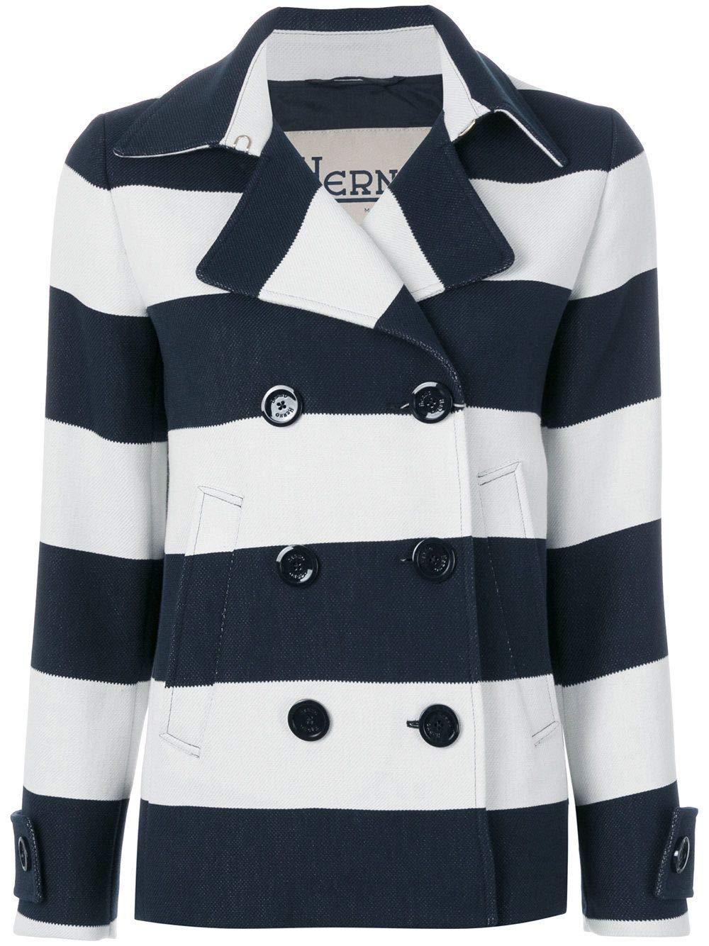 Herno Women's GA0129D138101092 bluee Cotton Outerwear Jacket