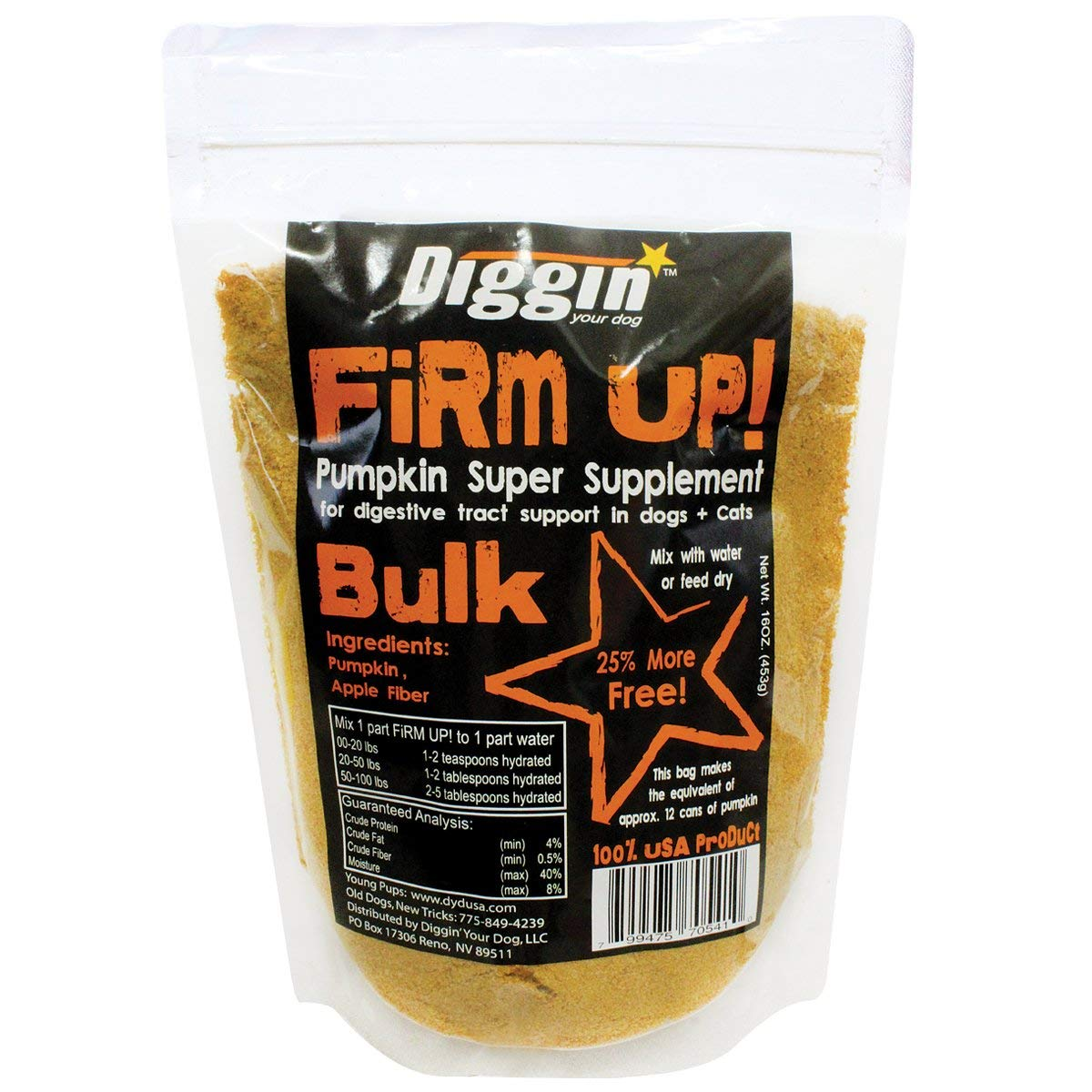 Firm Up  Pumpkin 1 pound 2 PACK