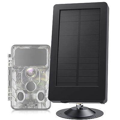 TOGUARD Trail Camera Solar Panel DC 5V/6V/9V/12V 2500mAh Solar Power Bank IP54 Waterproof