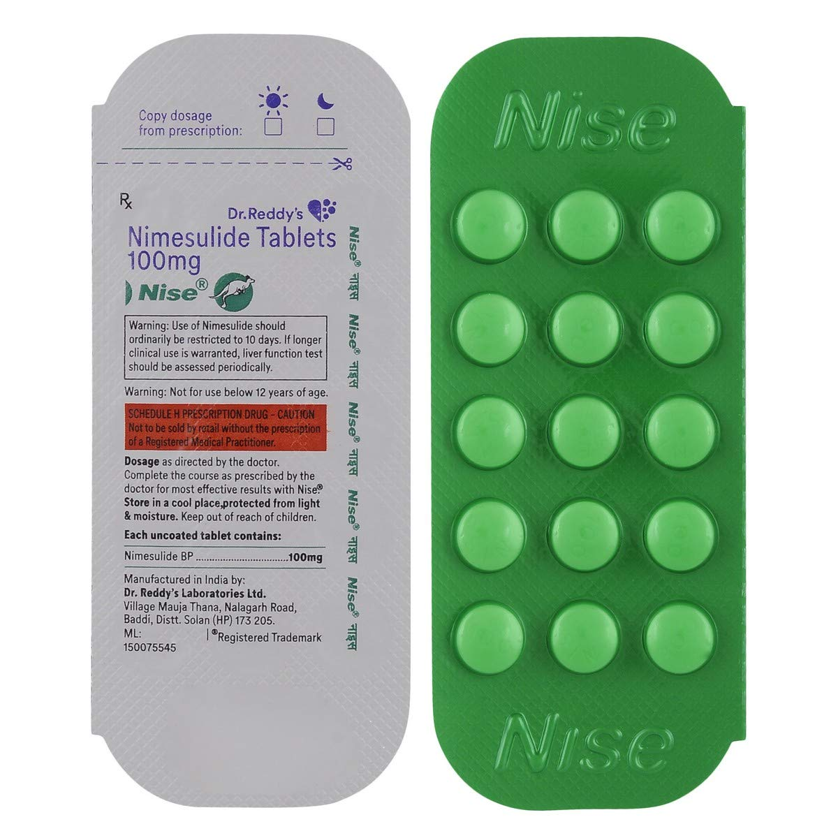 Nise 100mg - Blister Pack of 15 Tablets: Amazon.in