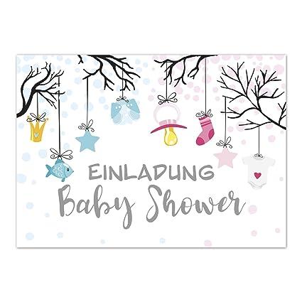 8 X Invitación Baby Shower Party Tarjetas De Invitación Con