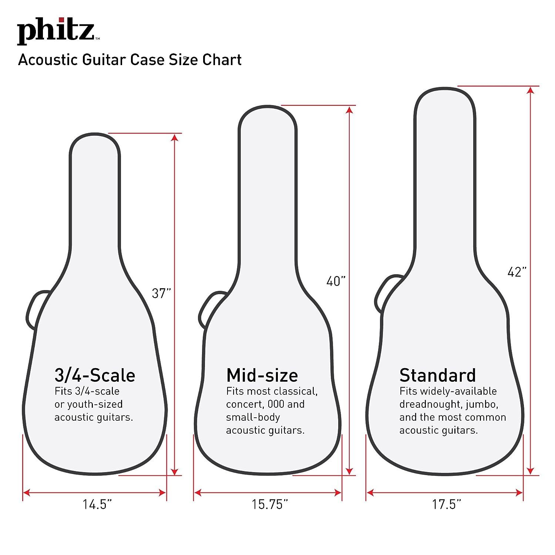 Standard Size Acoustic Guitar Case Rasta By Phitz Amazon Ca