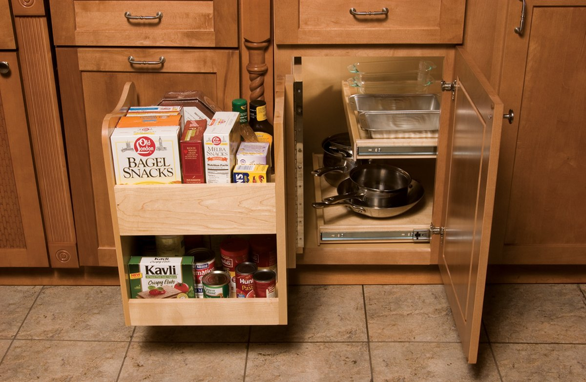 Omega National Maple Blind Corner Caddy by Omega National Products