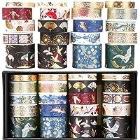 Washi Tape Set, Washi Tape Vintage, Washi Tape, 20 Rolls, Stickers Aesthetic, Masking Tape, Washi Tape Pastel, Washi…